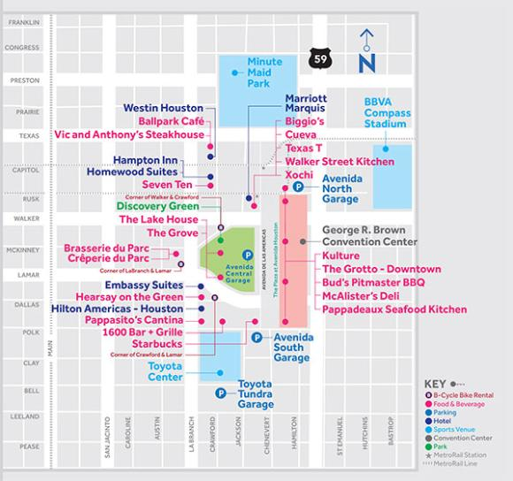 Avenida Houston Map