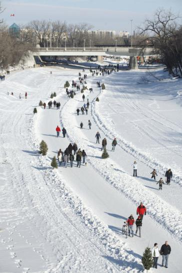 Red River Mutual Trail Skating at The Forks