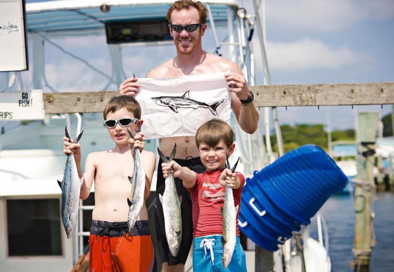 Family After a Day Fishing