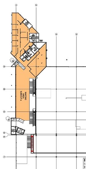 Map of Cruise Terminal 2 second floor layout