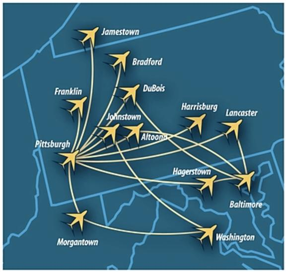 Southern Airways Route Map 2017