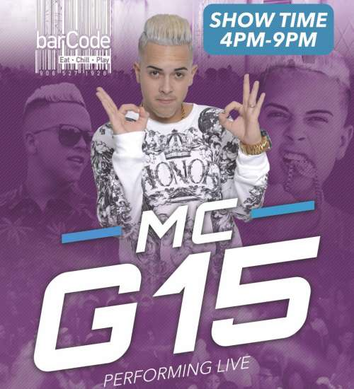 MC G15 Performing Live at Barcode