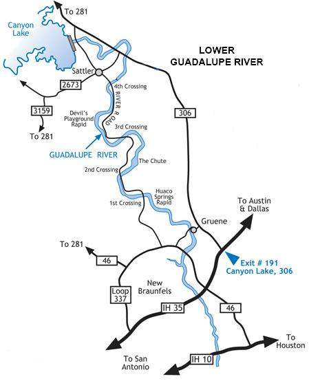 Lower Guadalupe River Map