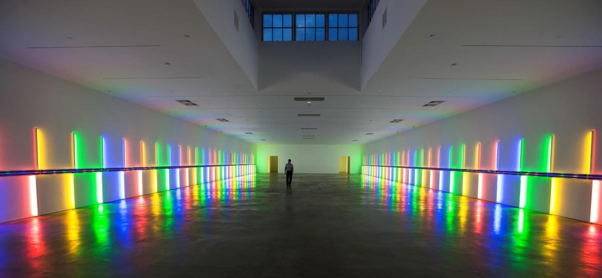 Inside the Richmond Hall at Menil Collection in Houston