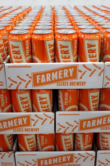 The Farmery Estate Brewery cans