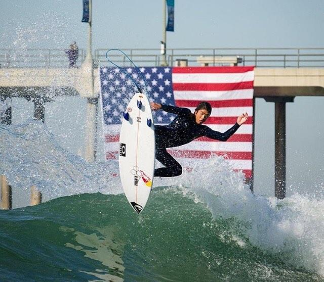 Surfing American Flag