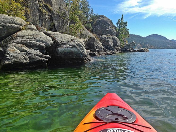 Kayaking Okanagan Lake