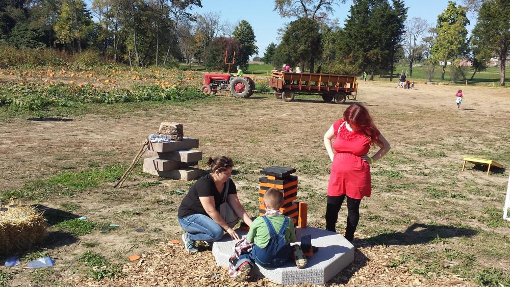 Giant Jenga at Greendell Landscape Solutions