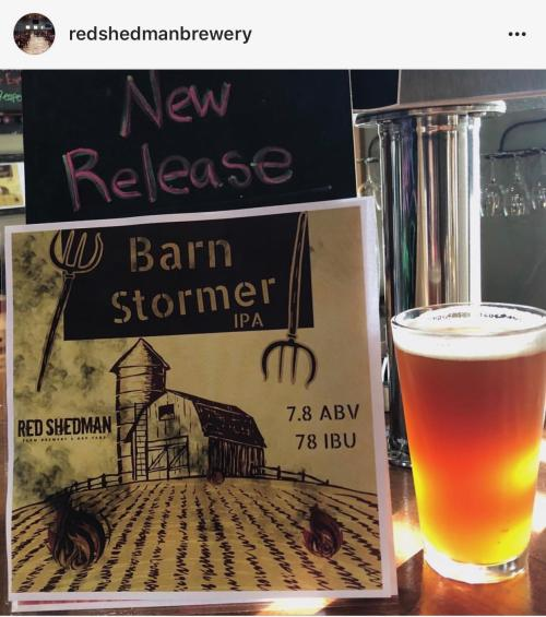 Red Shedman Brewery Barn Stormer IPA