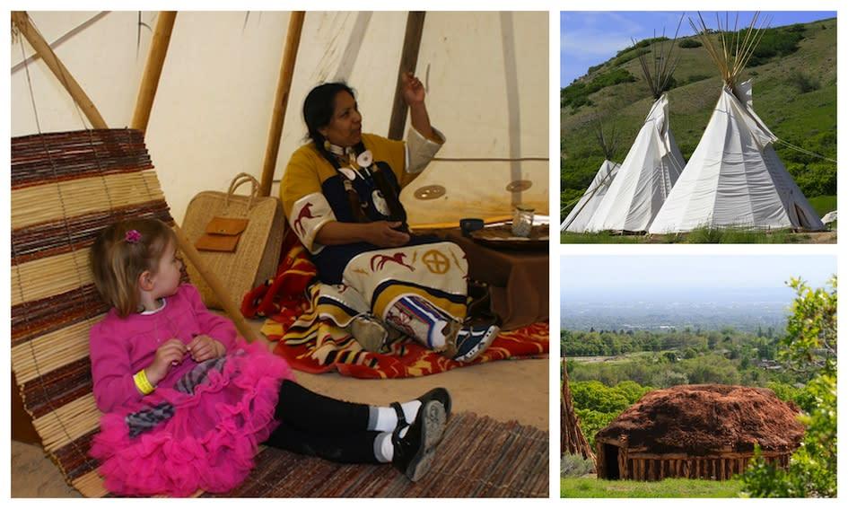 Native American village