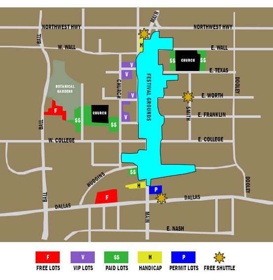 GrapeFest Parking Map