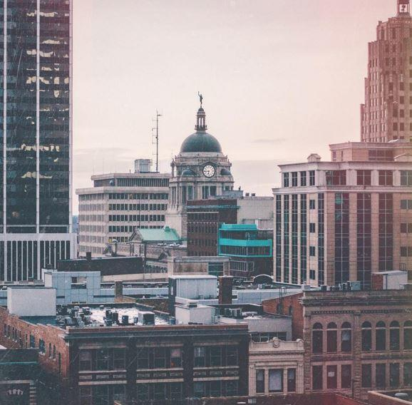 Adam Garland Instagram Photo - Fort Wayne, IN Skyline