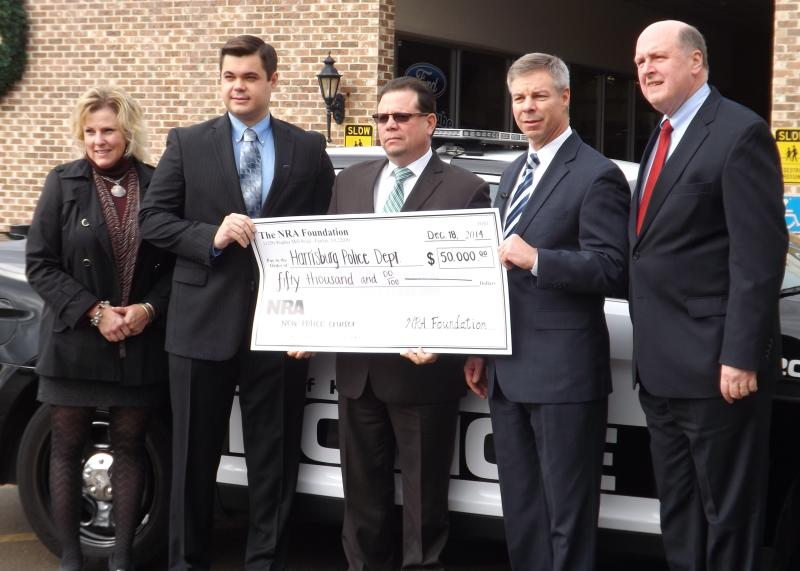 NRA Check Presentation for new police cruiser for City of Harrisburg in 2015.
