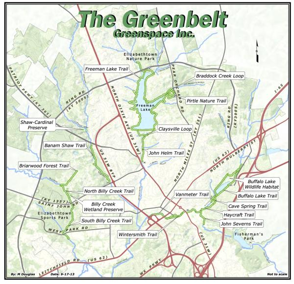 Elizabethtown Ky Hiking Biking Walking Trails Greenspace - Us trails map