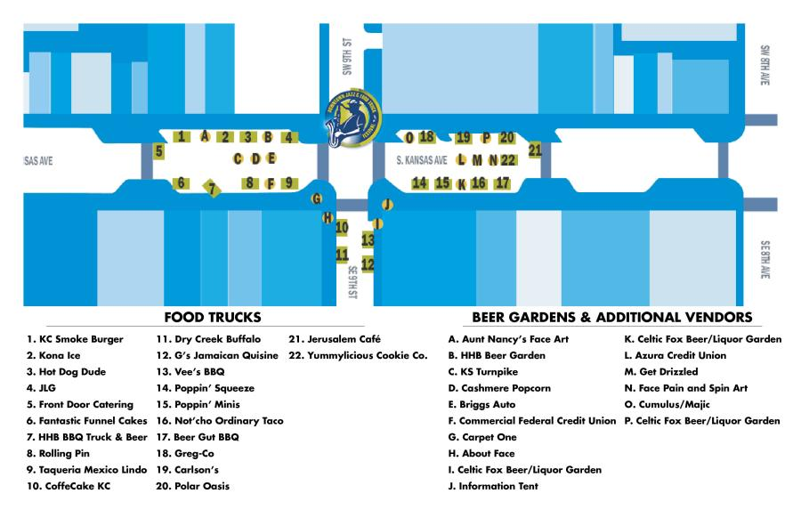 Jazz & Food Truck Festival Map