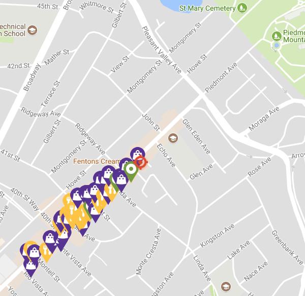 Piedmont Avenue Map