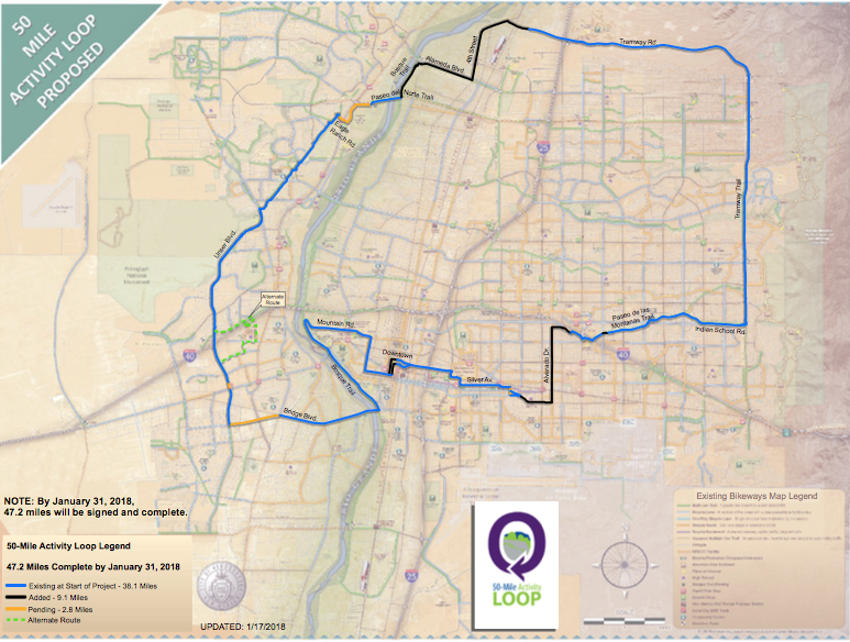 50 Mile Activity Loop Map