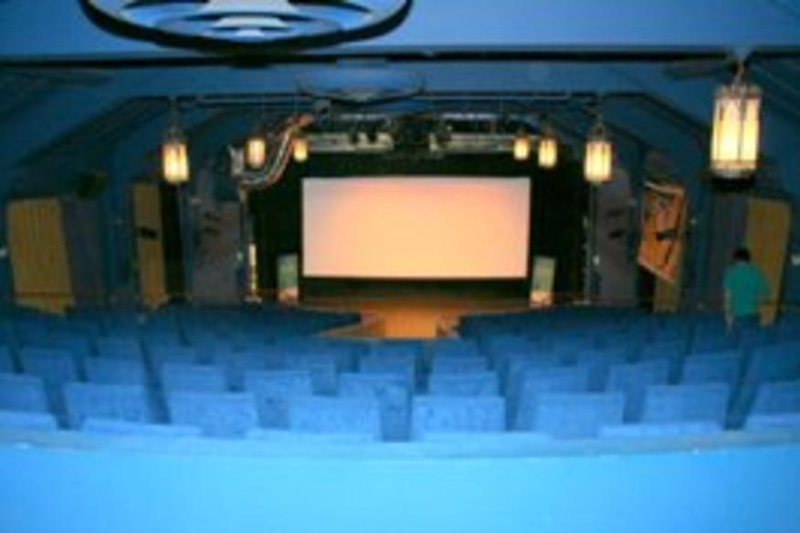 Interior of Savor Cinema