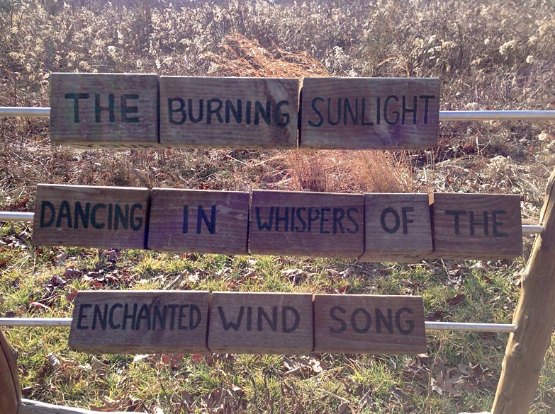 Stonybrook sunlight Haiku Station sign in Pennington, NJ