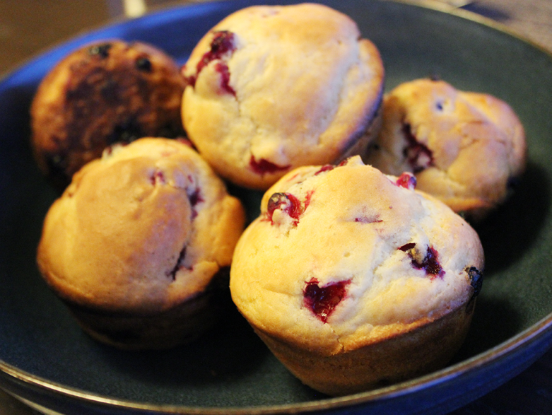 Cranberry muffins at Seal River Heritage Lodge