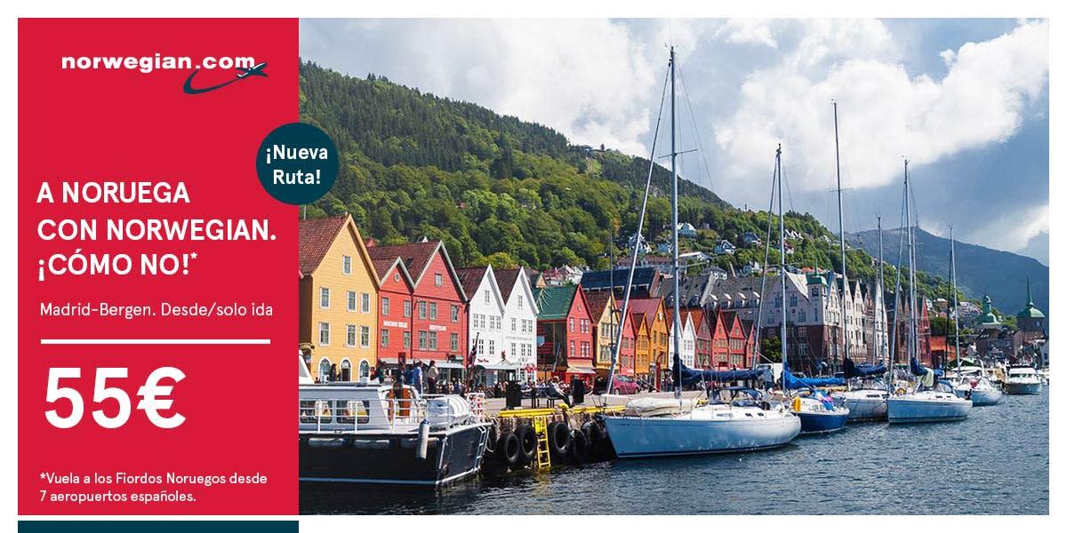 Norwegian te lleva a Noruega