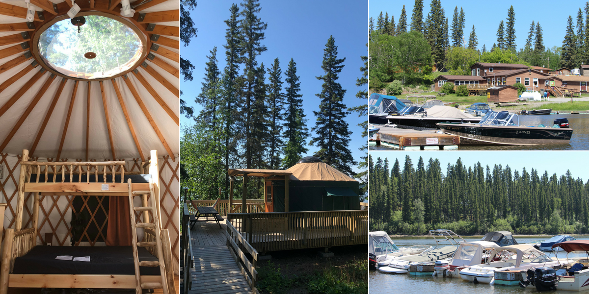 Accommodations at Paint Lake Provincial Park