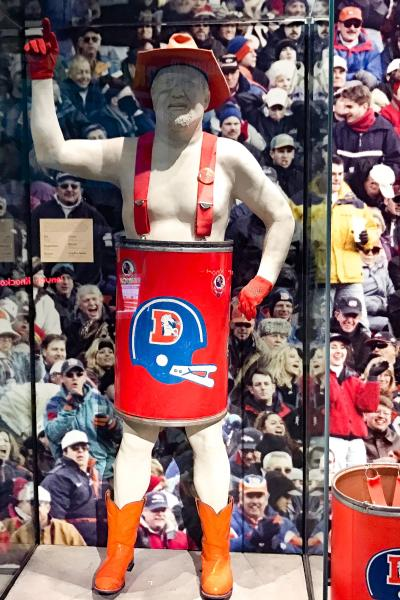 Barrel Man Broncos superfan