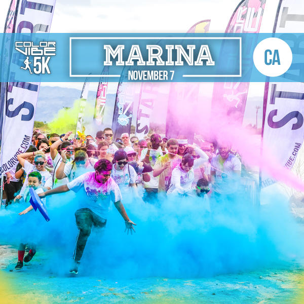 Color Vibe 5K in Marina