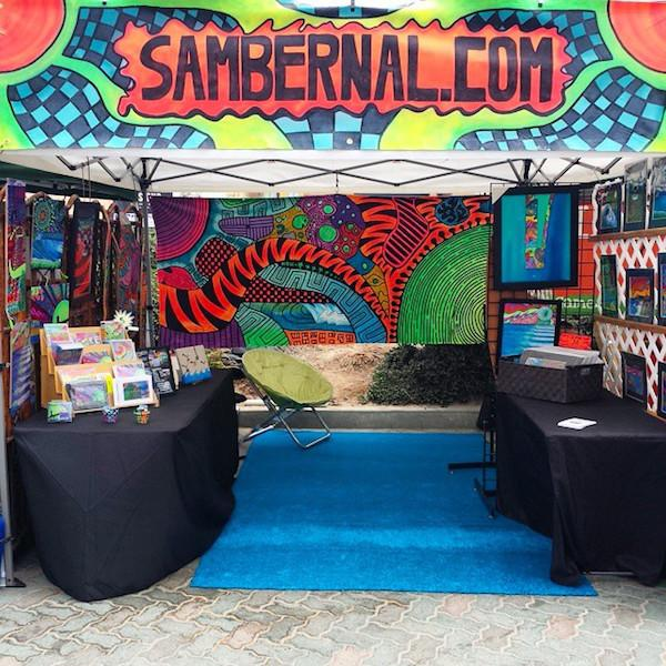 Sam's Booth at Surf City Nights