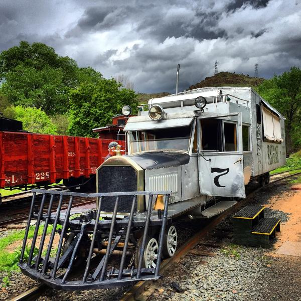 Galloping Goose railcar at Colorado Railroad Museum