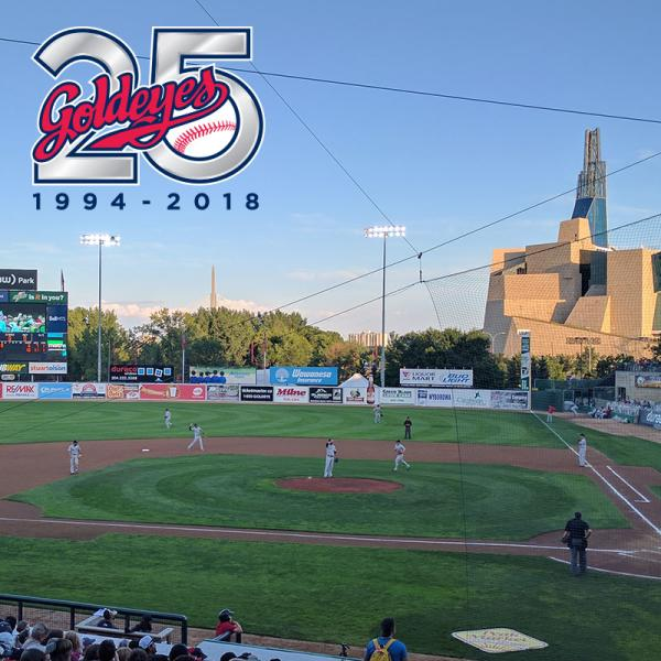 Winnipeg Goldeyes play at Shaw Park