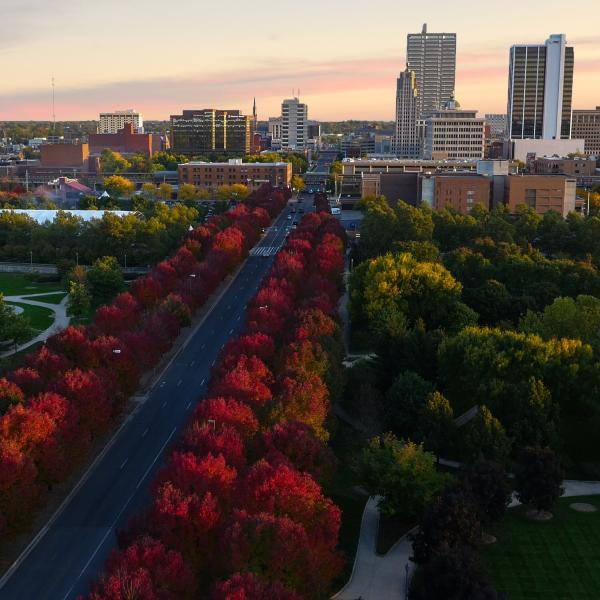 Downtown Fort Wayne Skyline - Fall