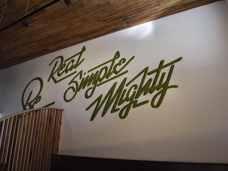 mighty bowl mural wall