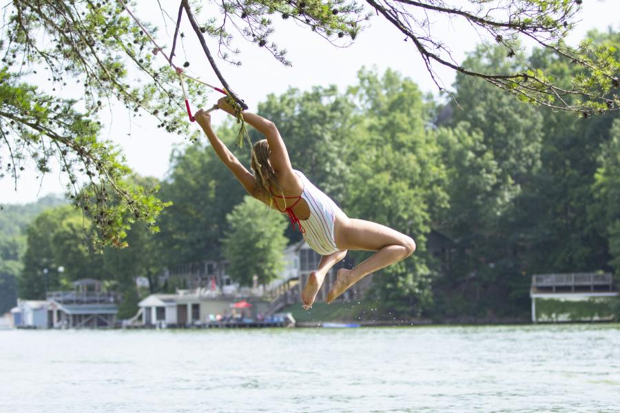 Tree Swing into Lake Lure, NC