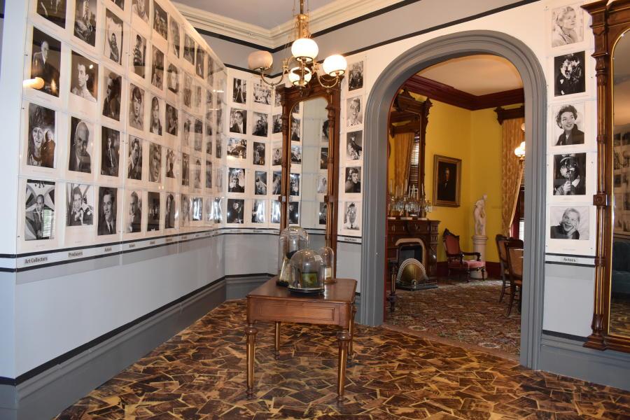 Interior shot of exhibit at Saratoga Springs History Museum