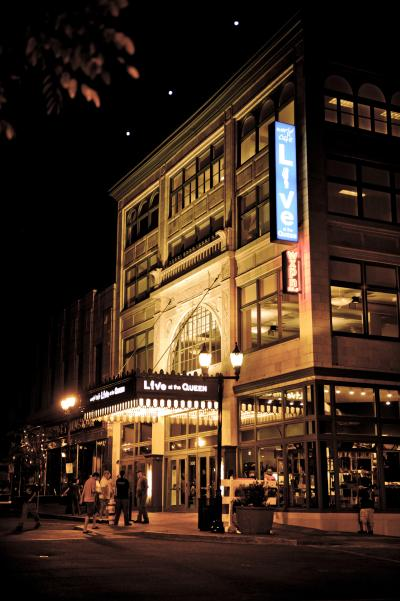 Exterior of the Queen Theatre, Home of World Cafe Live