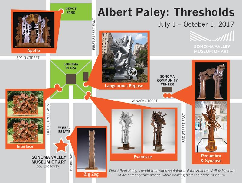 Albert Paley Public Art Map
