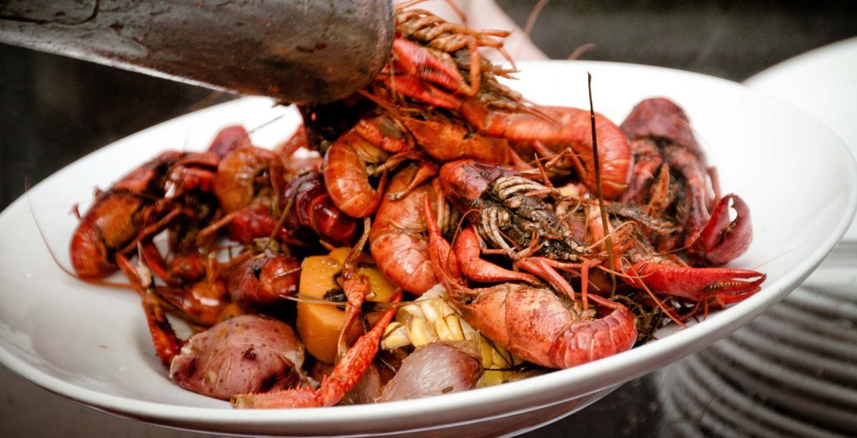 Crawfish in plate