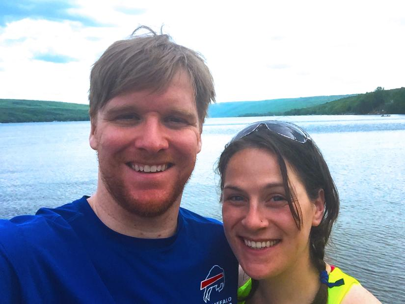 Melissa and Andrew after biking Honeoye Lake
