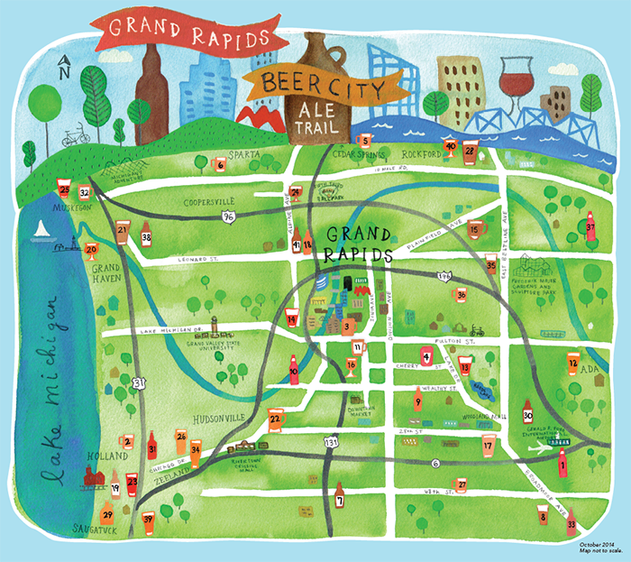 Ale Trail Beer Map