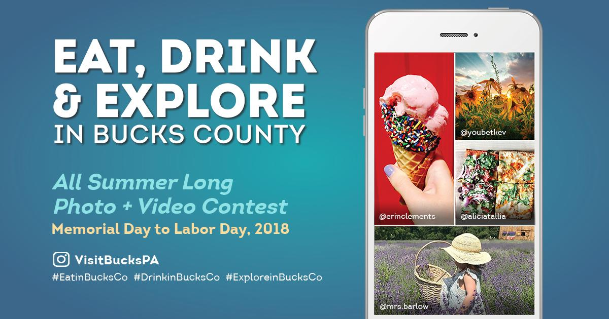 Eat, Drink and Explore in Bucks County Summer Photo Contest