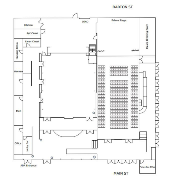 Palace Arts Center Diagram