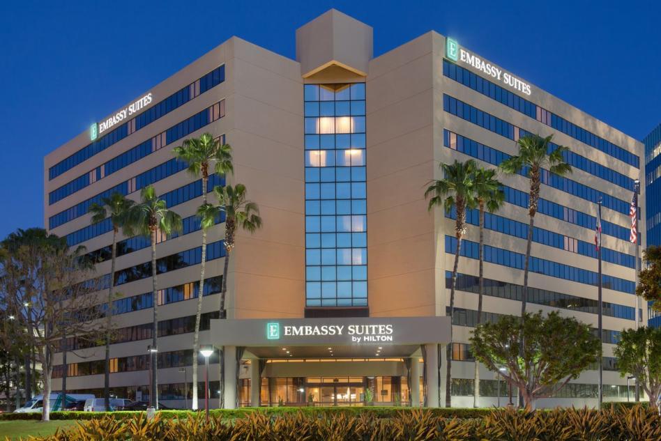 Embassy Suites exterior night