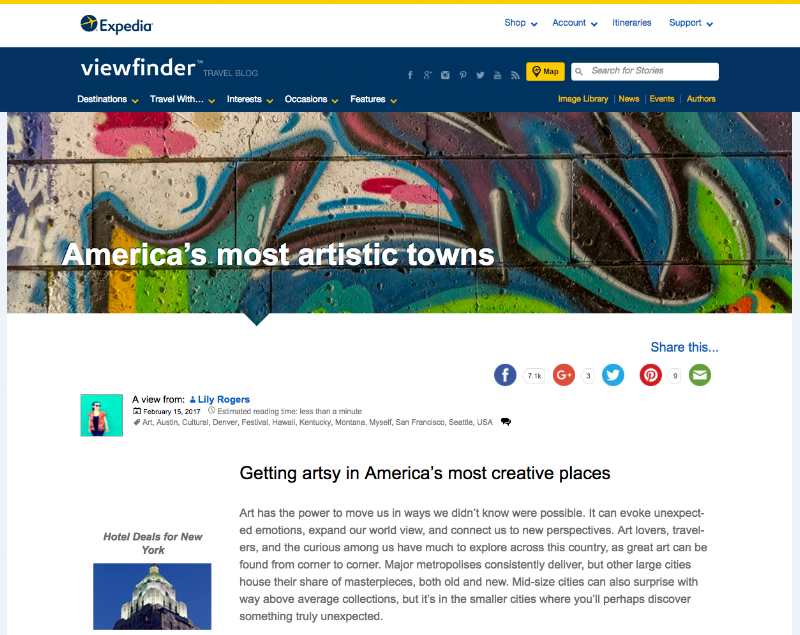 America's Most Artistic Towns