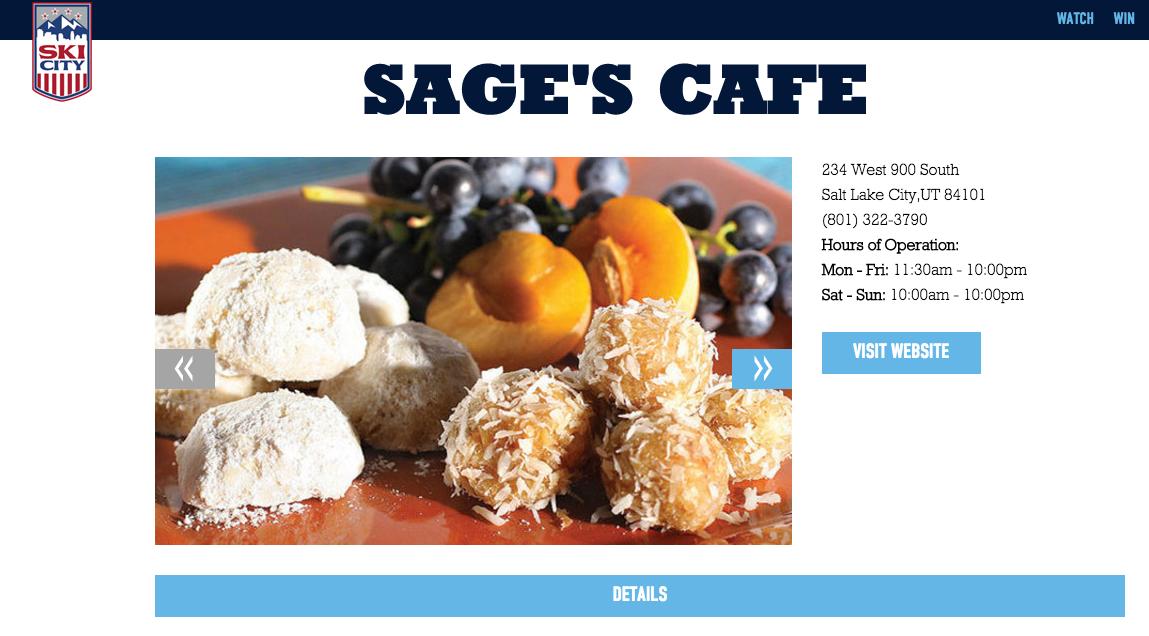 Sage's Cafe screenshot