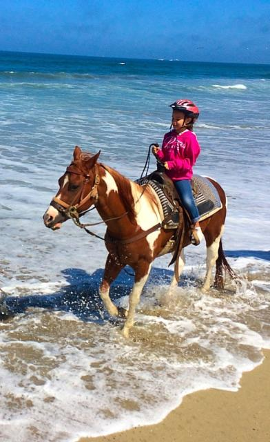 Horseback Riding at  Slainas River State Beach