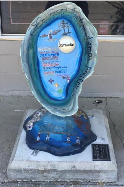 Seersucker Oyster Sculpture