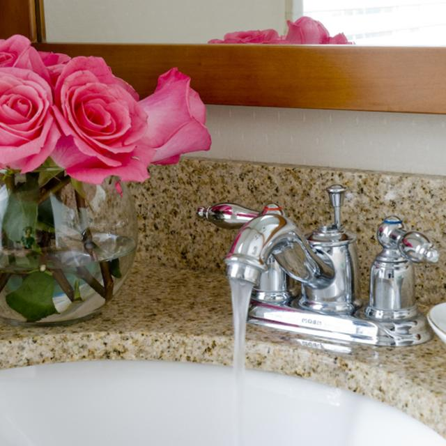 Spa-style granite bathrooms in all guest rooms