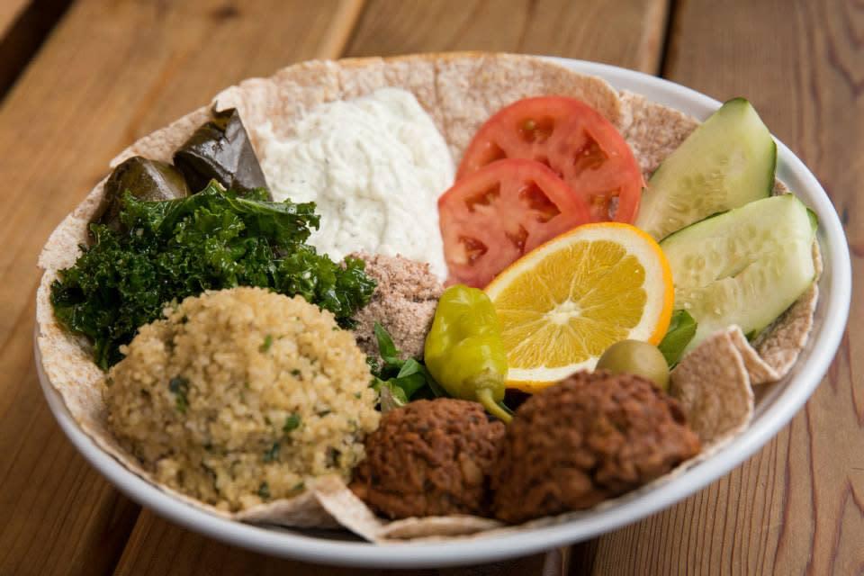 Green Seed Vegan Cafe Green Vegetarian plate
