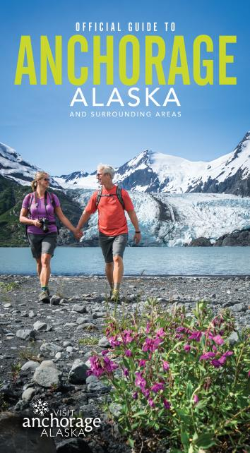 The front cover of the Official Anchorage Visitor Guide